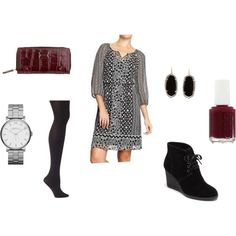 """""""dress with booties"""" by emily1967 on Polyvore"""