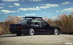 E30 BMW with some DEEP rims