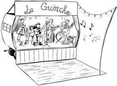 Papeterie - Illustration dans le thème Guinguette / Caravane orchestre La Guinche