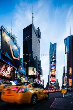 New York, USA Motion Blur