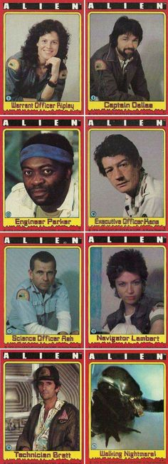 Alien trading cards Topps 1979 by mikepants in movies Alien 1979, Alien Film, Alien Art, Tv Movie, Sci Fi Movies, Horror Movies, Cultura Nerd, Cultura Pop, Pet Sematary