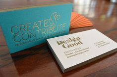 Design Good business cards / by Design Good & Workhorse Printmakers