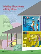 home activity, left page  - making your home a holy place