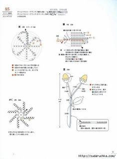 Crochet Mini Flower Motif Book - chart page