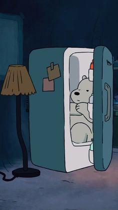 We bare bears Cute Disney Wallpaper, Cute Cartoon Wallpapers, Cute Wallpaper Backgrounds, Wallpaper Iphone Cute, Foto Cartoon, Bear Cartoon, Ice Bear We Bare Bears, We Bear, We Bare Bears Wallpapers