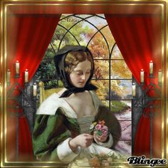 by the window Victorian Pictures, Glitter Graphics, Window Art, New Pictures, Photo Editor, Animation, Painting, Vintage, Painting Art