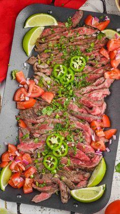 Great Recipes, Dinner Recipes, Favorite Recipes, Easy Recipes, Dinner Ideas, Beef Recipes Hamburger, Flank Steak Recipes, Carne Asada, Best Comfort Food
