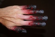 2 red degree frost bite hands special effects makeup