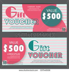 Girl gift voucher certificate coupon template sweet pink cute gift voucher certificate coupon template can be use for business shopping card customer sale and promotion layout banner web design vector flashek Image collections