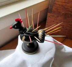 Rooster Chicken Toothpick Holder Bright Pickins Kitchen New