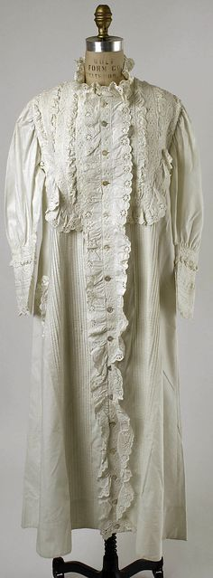 Nightgown Date: late 19th century Culture: American Medium: [no medium available] Accession Number: C.I.49.7.1 The Metropolitan Museum of Art