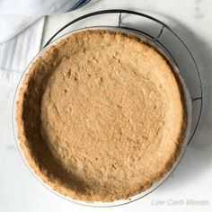 This great Low Carb Peanut Flour Pie Crust uses peanut flour for a distinctive flavor. It tastes just like peanut butter - my fave! Low carb & gluten-free.