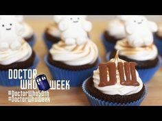 DR WHO SMORE CUPCAKES - NERDY NUMMIES - Dr Who 50th Anniversary