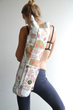 65 Of 100 Beautifully Patchworked Fl Yoga Mat Bag By Nikitahandmade Aud 59 00