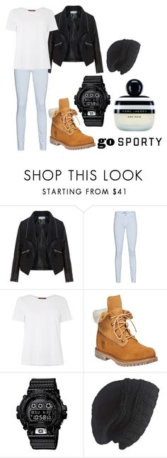 """E"" by hannahjerao on Polyvore featuring Zizzi, 7 For All Mankind, MaxMara, Timberland, Casio, Laundromat and Marc Jacobs"