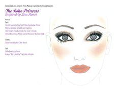 Boho inspired makeup for prom.