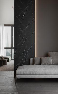 Apartment Interior, Room Interior, Ceiling Design, Wall Design, Home Room Design, House Design, Gray Interior, Interior Design, High Ceiling Living Room