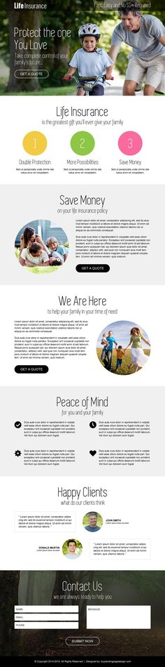 life-insurance-free-quote-service-lp-013   Insurance landing page design preview. http://buff.ly/1B3Lhpi