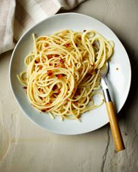 Spaghetti with Garlic, Onions and Guanciale Recipe on Food & Wine