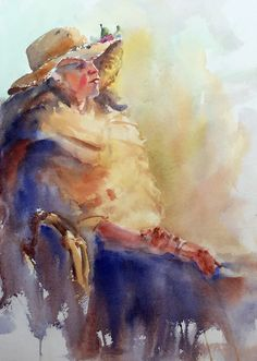 Wilson, Keene - Practice #watercolor, #model, #female, #color, #design, #painting, #figure