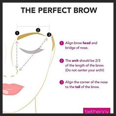 3 easy tips to the perfect brow! #beauty #tips
