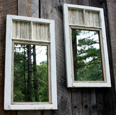 You might not be able to change the square footage of your backyard, but you can make it appear bigger. Turn vintage windows into mirrors and hang them from a fence—the reflection created will add extra dimension and depth to your outdoor space. Get the tutorial at The Brambleberry Cottage.   - CountryLiving.com