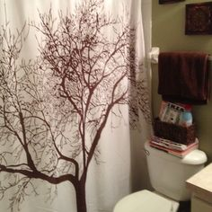 Nature themed bathroom on pinterest natural bathroom for Nature inspired shower curtains