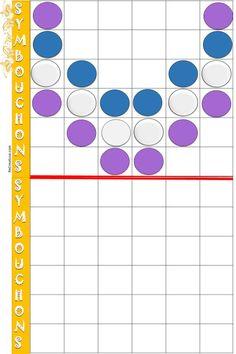 ATELIERS SYMBOUCHONS manipulation : Pour cet atelier, il est nécessaire d'avoir un stock de bouchons. Les fiches sont à plastifier puis à coller par deux à l'intérieur d'une pochette, les élèves manipulent seuls ou à plusieurs en plaçant les bouchons. Il y a deux ateliers : l'un avec l'axe de symétrie horizontal, l'autre vertical.  …