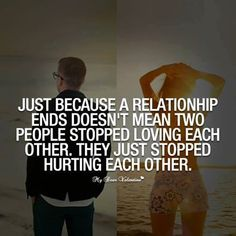 A relationhip ends