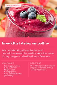 Kick off the new year with at least one good decision, with this Breakfast Detox Smoothie.