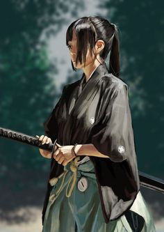 In feudal raw, phae is a samurai and Dion is her master Japanese Culture, Japanese Art, Fantasy Characters, Female Characters, Character Inspiration, Character Art, Ronin Samurai, Female Samurai Art, Samurai Swords
