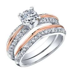 Rose Gold Engagement Rings are stylish, beautiful and set you apart from the majority. Learn about Rose Gold, including tips to make your red gold, rose gold, or pink gold really stand out. Wedding Rings Sets Gold, Cheap Wedding Rings, Wedding Band Sets, Wedding Rings For Women, Diamond Wedding Rings, Gold Rings, Solitaire Rings, Wedding Jewelry, Yellow Engagement Rings