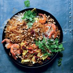 Pad Thai is Thailand's favourite stir-fry, this is a popular street food made with rice noodles (pad). Turn this into a vegetarian dish by leaving out the prawns and substituting tofu and green beans. Homemade Pad Thai, Curry Stew, Crispy Onions, Asian Recipes, Ethnic Recipes, Fresh Coriander, Cooking Instructions, Rice Noodles, Stir Fry