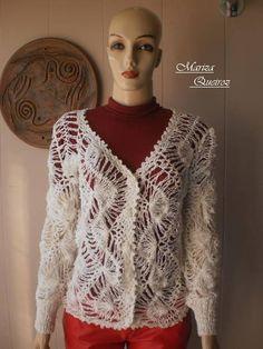 "Este  modelo  foi  extraído  da  novela  "" Fina  Estampa ""  Divido  em  até  6x  no  cartão  de  crédito R$ 199,00 Hairpin Lace Crochet, Lace Outfit, Crochet Clothes, Hair Pins, Style Inspiration, Elegant, Knitting, Blouse, How To Make"