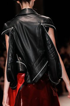 Undercover Spring 2014 - leather jacket with zips