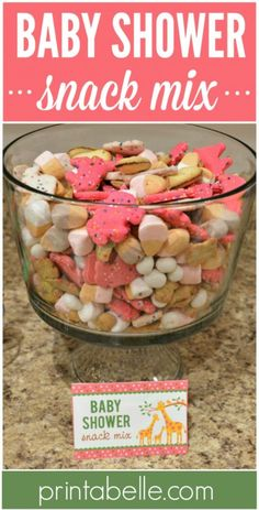 Shower Snack Mix Baby Shower Snack Mix – Free Party Printables and more!Baby Shower Snack Mix – Free Party Printables and more! Baby Shower Menu, Baby Shower Snacks, Baby Shower Desserts, Shower Party, Baby Shower Cakes, Baby Shower Parties, Baby Shower Themes, Baby Boy Shower, Baby Shower Gifts
