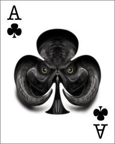 Ace of Clubs by mudwart.deviantart.com on @deviantART