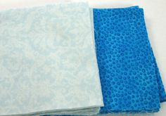 Shades of Blue 40  4 inch Fabric Quilt  Squares by Destashbelles, $4.00