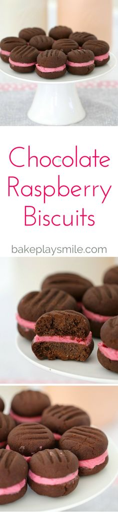 These Chocolate Raspberry Biscuits are double trouble with TWO yummy chocolate…
