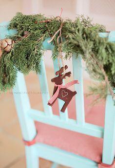 Merry Christmas, felt reindeer is super cute