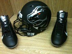 Boise State Blackout Helmets