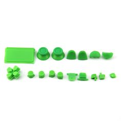 Glossy Full Button Sets Mod Kits for PS4 Controller 3.0(Green)