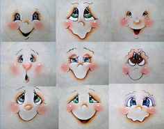 faces. all the snowman ornaments are here: http://www.pinterest.com/kerri3772/snowmen-ornament-inspiration-two/