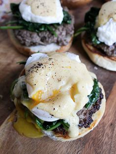 Eggs Florentine Burgers / from away