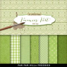 New Freebies Kit of Backgrounds - Vacances Vert:Far Far Hill - Free database of digital illustrations and papers