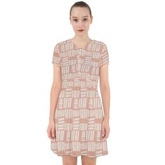 Blush Brick Short Chiffon Dress Adorable in Chiffon Dress Chiffon Fabric, Chiffon Dress, Unique Dresses, Short Sleeve Dresses, Head To Toe, Brick, Blush, Fashion, Chiffon Gown