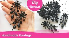 How to Make Easy Low Cost Crystal Earrings. DIY Accessories Ideas.