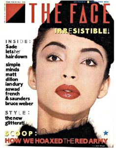 The Face, April 1984 Art director: Neville Brody On the cover: Sade Sade Adu, Timeless Beauty, Timeless Fashion, Classic Beauty, Punk, Neville Brody, The Face Magazine, Magazine Layout Design, Magazine Layouts