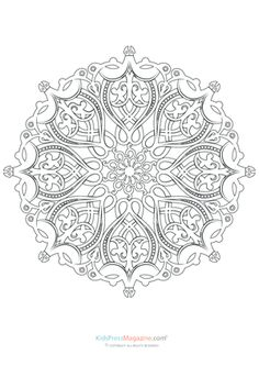 Difficult Level Mandala Coloring Pages - Bing Images