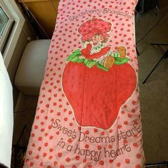 Vintage Strawberry Shortcake Sleeping Bag - from 1983 - Has small holes/stain | eBay